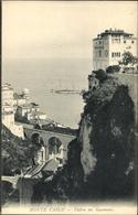 Cp Monte Carlo Monaco, Vallon Des Gaumates, Brücke, Meer - Monaco