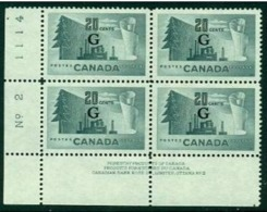 """-Canada-1951- """"King George VI""""  MNH **  Overprinted 'G' - Officials"""