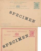 2 Entier Postaux HONG KONG Marque SPECIMEN - Briefmarken
