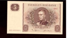 Sverige. 4 Sedlar. 5 Kronor 1961 Och 1981. 10 Kronor 1958 Och 1981. Mycket Bra Skick. - Zweden