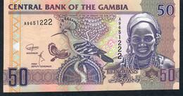 GAMBIA  SEE RARE SIGNATURE! ! P28d 50 DALASI 2018 #A  Signature 7 UNC. - Gambia