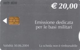 *ITALIA: BASI MILITARI - Cod. 00079* - Scheda A CHIP Usata - Italia