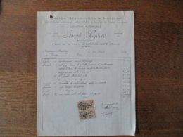 LIESSE-GIZY JOSEPH LEFEVRE CYCLES,AUTOMOBILES & MOTEURS PLACE DE LA GARE FACTURE DU 30 AVRIL 1927 - Frankreich