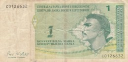 BANCONOTA BOSNIA HERZEGOVINA 1 VF (VX1001 - Bosnia Erzegovina