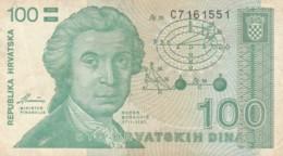 BANCONOTA CROAZIA 100 VF (VX1002 - Kroatië