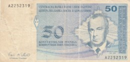 BANCONOTA BOSNIA HERZEGOVINA 50 VF (VX1006 - Bosnia Erzegovina