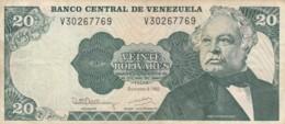 BANCONOTA 20 BOLIVARES VENEZUELA VF (VX1015 - Venezuela