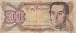 BANCONOTA 100 BOLIVARES VENEZUELA VF (VX1018 - Venezuela