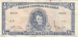 BANCONOTA CILE 1/2 ESCUDO VF (VX1025 - Cile