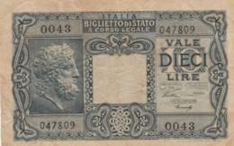 BANCONOTA ITALIA LIRE 10 VF (VX1029 - Italia – 10 Lire