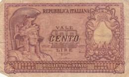 BANCONOTA ITALIA LIRE 100 VF (VX1030 - [ 2] 1946-… : Repubblica