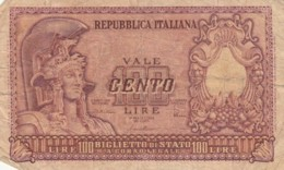BANCONOTA ITALIA LIRE 100 VF (VX1030 - [ 2] 1946-… : Republiek