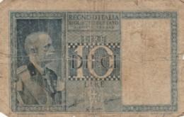 BANCONOTA ITALIA LIRE 10 VF (VX1032 - [ 1] …-1946 : Koninkrijk