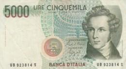 BANCONOTA ITALIA LIRE 5000 VF (VX1040 - [ 2] 1946-… : Repubblica