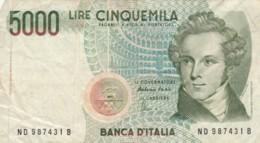 BANCONOTA ITALIA LIRE 5000 VF (VX1041 - [ 2] 1946-… : Repubblica