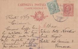INTERO POSTALE 1919 C.10+5 TIMBRO TRIESTE (VX1085 - 1900-44 Vittorio Emanuele III