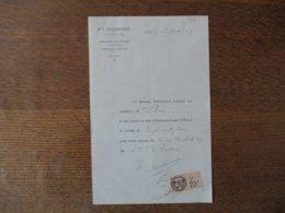 N.D.DE LIESSE Dr V. DELVINCOURT NOTE D'HONORAIRES DU 27 AVRIL 1927 - Frankreich
