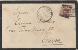 LETTERA 1924 C.50 SS 40 TIMBRO TRIESTE (VX1311 - Storia Postale