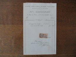N.D.DE LIESSE Mme GARGOMINY ARTICLES DE PIETE EN TOUS GENRES 9 PLACE DU PARVIS FACTURE DU 26 AVRIL 1927 - Frankreich