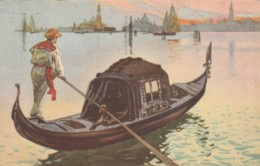 CARTOLINA GONDOLA VENEZIA 1938 C.20 (VX1464 - Illustratori & Fotografie