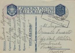 CARTOLINA FRANCHIGIA POSTA MILITARE -CENSURA (VX1483 - 1900-44 Victor Emmanuel III