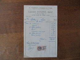 NOTRE-DAME DE LIESSE LUCIEN AUGEIX PHARMACIEN 11 RUE DE REIMS FACTURE DU 27 AVRIL 1927 - Frankreich