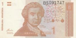 BANCONOTA CROAZIA 1 VF (VX1567 - Croatia