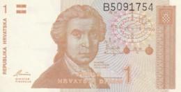 BANCONOTA CROAZIA 1 VF (VX1568 - Kroatië
