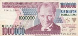 BANCONOTA TURCHIA 1000000 LIRA VF (VX1574 - Turchia