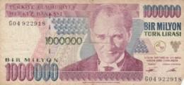 BANCONOTA TURCHIA 1000000 LIRA VF (VX1576 - Turchia
