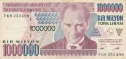 BANCONOTA TURCHIA 1000000 LIRA VF (VX1577 - Turkey