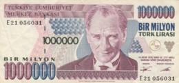 BANCONOTA TURCHIA 1000000 LIRA VF (VX1579 - Turchia