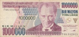 BANCONOTA TURCHIA 1000000 LIRA VF (VX1581 - Turkije