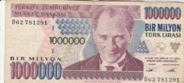 BANCONOTA TURCHIA 1000000 LIRA VF (VX1582 - Turkije