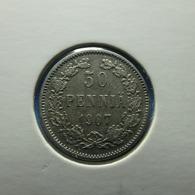 Finland 50 Pennia 1907 Silver - Finlande