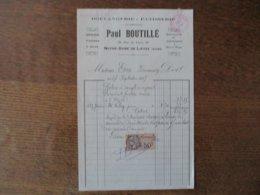 NOTRE-DAME DE LIESSE PAUL BOUTILLE BOULANGERIE-PATISSERIE 28 RUE DE LAON FACTURE DU 17 SEPTEMBRE 1925 - Frankreich