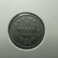 Finland 50 Pennia 1889 Silver - Finlande