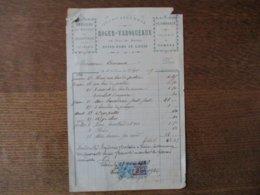 NOTRE-DAME DE LIESSE ROGER-VAROQUEAUX QUINCAILLERIE 18 RUE DE REIMS FACTURE DU 15 SEPTEMBRE 1919 - Frankreich