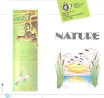 N°8 -1989 FR - Nature - Canards Avec Timbres Oblitérés 1er Jour - Documents Of Postal Services