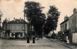 PARC SAINT-MAUR - Boulevard National - Porte Blanche - Animée (Commerce De Vins, Billard) - Saint Maur Des Fosses