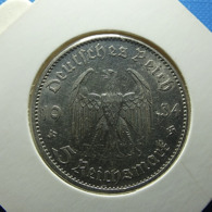 Germany 5 Reichsmark 1934 A Silver - 5 Reichsmark