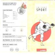 N°10 -1997 FR - Sport - Judo Avec Timbres Oblitérés 1er Jour - Documents Of Postal Services