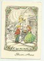 BIGLIETTO BUON ANNO ILLUSTRATO BARNINI - CM.15X10,5 - Vieux Papiers