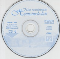 Die Schonsten Heimatmelodien, German Language, Austro Mechana Austria Unused - Sonstige - Deutsche Musik