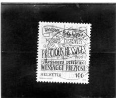2019 Svizzera - Hand Lettering - Calligrafia - Used Stamps
