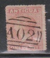 ANTIGUA Scott # 3 Used - Queen Victoria - Nice Cancel - Antigua & Barbuda (...-1981)