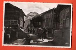 MTZ-22 Saas-Fee Die Post. Maultier, Mulet, --Visa ACF SRB 1939, Nicht Gelaufen. Perrochet 4610 - VS Wallis