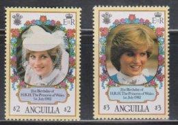 ANGUILLA Scott # 489-90 MH - Princess Diana - Anguilla (1968-...)