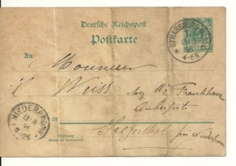 ENTIER POSTAL 1896 - DEUTSCHE REICHSPOST - Allemagne