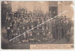 MERKSEM MERKSEM 16 NOV 1920 STAKERS VAN HET FABRIEK AXA CHRISTENE CENTRALE DER VOEDING / TOP! - Antwerpen
